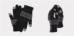 Перчатки Xiaomi для сенсорных экранов FO Touch Wool Gloves 160/80, черные - фото 17353