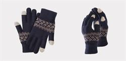 Перчатки Xiaomi для сенсорных экранов FO Touch Wool Gloves 160/80, синие - фото 17367
