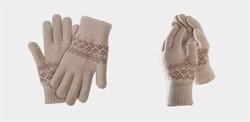 Перчатки Xiaomi для сенсорных экранов FO Touch Wool Gloves 160/80, бежевые - фото 17378