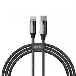 Кабель BMX (Baseus) Sequins MFi certified Cable Type-C to Lightning PD 18W 1.2m Black (CATLLP-A01) - фото 17795