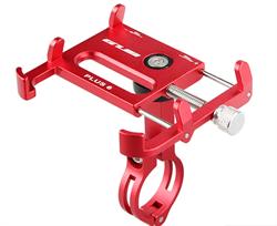 Держатель смартфона GUB 6 plus 6 точек крепления на велосипед, мотоцикл, самокат красный - фото 18077