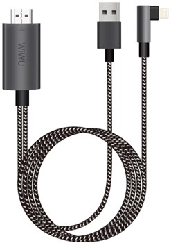 Кабель-разветвитель WIWU HDMI, USB, Lightning 4K 1080p 2м (X7) - фото 18262