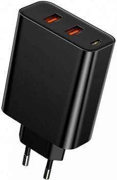 Зарядное устройство Baseus Speed PPS Three output Quick Charger 60W черный (CCFS-G01) - фото 18396