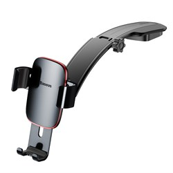 Держатель Baseus Metal Age Gravity Car Mount (SUYL-F0G) серый - фото 18709