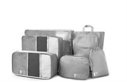 Комплект органайзеров для чемодана 6 в 1 WIWU Toiletries Organizer Bag серый - фото 19085