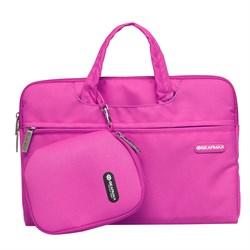 "Сумка для ноутбука WIWU Gearmax Campus Slim Case Gearmax 15.4"" розовый - фото 19113"