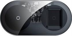 Беспроводное зарядное устройство Baseus Simple 2in1 Wireless Charger (WXJK-A01) черный - фото 19193
