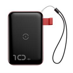 Внешний аккумулятор Baseus Mini S Bracket Wireless Charger 10000mAh (PPXFF10W-19) черный/красный - фото 19444
