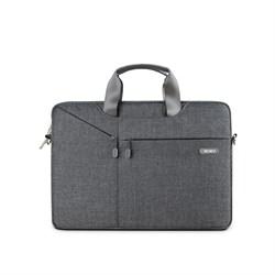 """Сумка для ноутбука WiWU Gent Business Handbag 15.4"""" серый - фото 19841"""