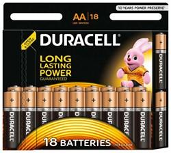 Батарейка Duracell AA Basic LR06 18 шт - фото 19855