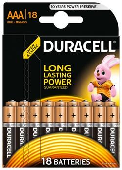 Батарейка Duracell AAA Basic LR03 18 шт - фото 19857