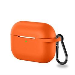 Чехол-футляр для Apple АirPods Pro оранжевый - фото 20066