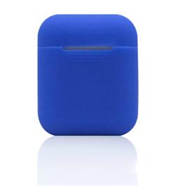 Чехол-футляр для Apple Airpods case Cheap silicone синий - фото 20082