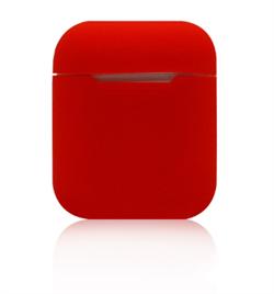 Чехол-футляр для Apple Airpods case Cheap silicone красный - фото 20086
