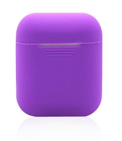 Чехол-футляр для Apple Airpods case Cheap silicone фиолетовый - фото 20094