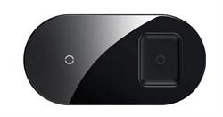 Беспроводное зарядное устройство Baseus Simple 2in1 Wireless Charger (WXJK-01) черный - фото 20156