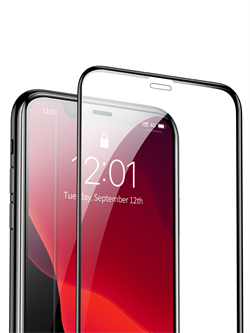 Стекло защитное MTB для Apple iPhone X/XS/11 Pro 0,33mm черный - фото 20713