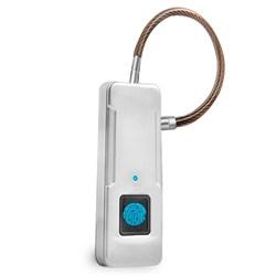 Биометрический умный замок WIWU Fingerprint Padlock FL-P4 со сканером отпечатка пальца - фото 20787