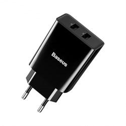 Сетевое зарядное устройство Baseus Speed Mini Dual U Charger 10.5W (CCFS-R01) черный - фото 21013