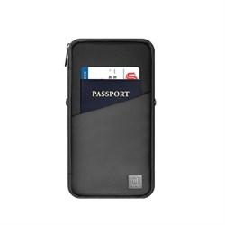 Органайзер для документов и банковских карт WiWU Travel Mate Passport Pouch черный - фото 21072