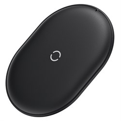 Беспроводное зарядное устройство Baseus Cobble Wireless Charger 15W (WXYS-01) черный - фото 21416