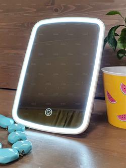 Зеркало косметическое с подсветкой для макияжа с функцией селфи лампа, настольное ANNI - фото 21772