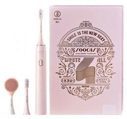 Электрическая ультразвуковая зубная щетка Xiaomi Soocas X3U Pink Set Limited Edition Facial розовый - фото 21781