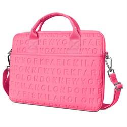 "Сумка для ноутбука WiWU City Cosmo Slim Case 13.3"" розовый - фото 22048"