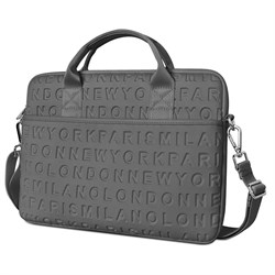 "Сумка для ноутбука WiWU City Cosmo Slim Case 13.3"" серый - фото 22050"