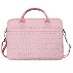 "Сумка для ноутбука WiWU City Cosmo Slim Case 13.3"" светло-розовый - фото 22052"