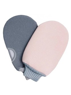 Мочалка для тела массажная Xiaomi Mijia Qualitell / рукавичка для душа / варежка для пилинга , набор 2 шт. - фото 22277