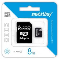 Карта памяти Smart Buy micro SDHC 10 class 8GB - фото 7140