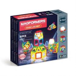 Магнитный конструктор MAGFORMERS 31 Neon Led set 709007 - фото 7485