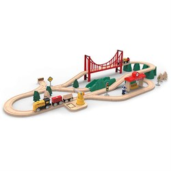 Детская железная дорога Xiaomi Mitu Track Building Blocks Electric Train Set - фото 8187