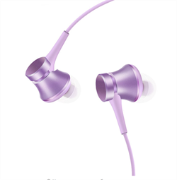 Наушники Xiaomi Mi In-Ear Headphones Basic фиолетовый - фото 9356