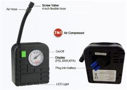 Компрессор автомобильный High Power для подключения к портативному зарядному устройству - фото 9706