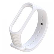 Ремешок силиконовый ребристый для Xiaomi Mi Band 3/4 белый