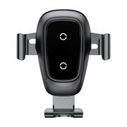 Держатель с беспроводной зарядкой Baseus Metal Wireless Charger Gravity Car Mount (WXYL -B0A)