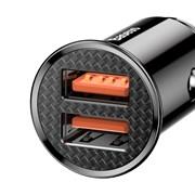 Автомобильное зарядное устройство Baseus Dual QC 3.0 2xUSB 30W (CCALL-YD01) черный