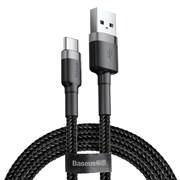 Кабель Baseus Cafule USB - Type-C 3А 1м черный/серый (CATKLF-BG1)