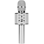 Караоке микрофон со встроенной колонкой Hoco BK3 Cool sound серебристый