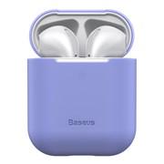 Чехол для Airpods Baseus Ultrathin Series Silica Gel Protector (WIAPPOD-BZ05) фиолетовый