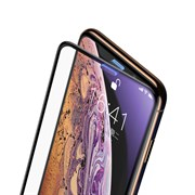 Защитное стекло для iPhone XS Max Baseus Full Screen Curved Tempered Glass Screen Protector Anti-Bluelight (SGAPIPH65-WB01)