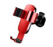 Автомобильный держатель для телефона в дефлектор Baseus Metal Age Gravity Car Mount (SUYL-D09) красный
