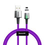 Кабель магнитный Baseus Zinc Magnetic Cable USB - Lightning 2.4A 1м фиолетовый (CALXC-A05)