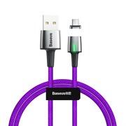Кабель магнитный Baseus Zinc Magnetic Cable USB - Type-C 3A 1м фиолетовый (CATXC-A05)