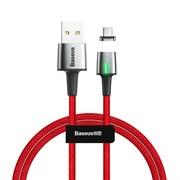 Кабель магнитный Baseus Zinc Magnetic Cable USB - Type-C 3A 1м красный (CATXC-A09)