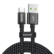 Кабель Baseus Double fast charging USB - Type-C 5A 1м черный (CATKC-A01)