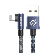 Кабель Baseus Camouflage Mobile Game Cable USB - Lightning 2,4A 1м синий (CALMC-A03)