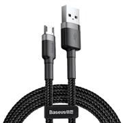 Кабель Baseus Cafule USB - Micro USB 2A 3м черный/серый (CAMKLF-HG1)